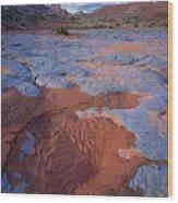Blue Wash Wood Print