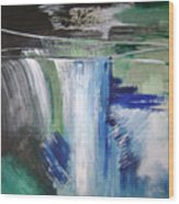 Blue Waterfalls Wood Print