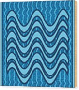 Blue Wave Over Wave Pattern On Gifts Shirts Pillows Tote Bags Phone Cases Shower Curtains Duvet Cove Wood Print