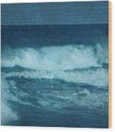Blue Waves - Jersey Shore Wood Print by Angie Tirado