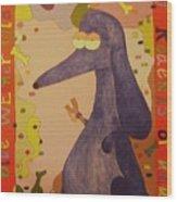 Blue Weiner Wood Print