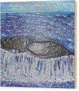 Blue Whale 1 Wood Print