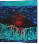 Blue Whale 2 Wood Print