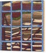 Blue Window 2 Wood Print