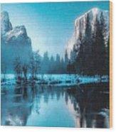 Blue Winter Fantasy. L B Wood Print