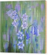 Bluebell Haze Wood Print