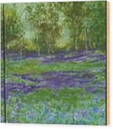 Bluebell Meadow Triptych Wood Print