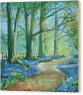 Bluebell Walk Wood Print