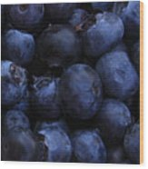 Blueberries Close-up - Horizontal Wood Print
