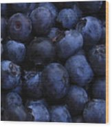Blueberries Close-up - Vertical Wood Print