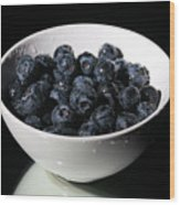 Blueberries Wood Print by Michael Ledray