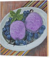 Blueberry Ice Cream Party Wood Print