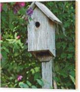 Bluebird Haven Wood Print
