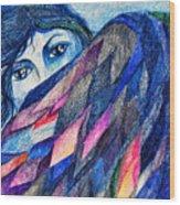 Bluebird Of Happiness. Wood Print