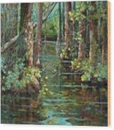 Bluebonnet Swamp Wood Print