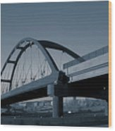 Blued Bridge Wood Print