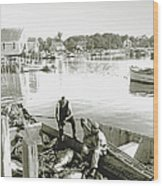 Bluefin Tuna At Barnstable Harbor Wood Print