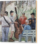 Bluegrass In The Park Wood Print by Anthony Falbo