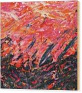 Bluegrass Sunrise - Crimson B-right Wood Print
