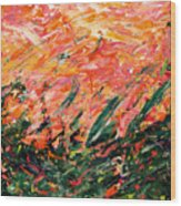 Bluegrass Sunrise - Desert B-right Wood Print