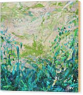 Bluegrass Sunrise - Jade A-left Wood Print