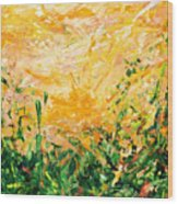 Bluegrass Sunrise - Lemon A-left Wood Print