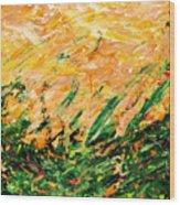 Bluegrass Sunrise - Lemon B-right Wood Print