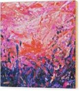 Bluegrass Sunrise - Rose A-left Wood Print