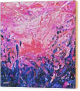 Bluegrass Sunrise - Violet A-left Wood Print