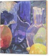 Blueish Wood Print
