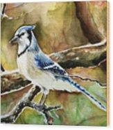 Bluejay Wood Print