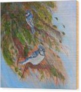 Bluejays Wood Print