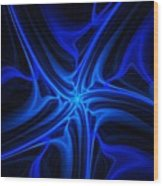 Blueness Wood Print