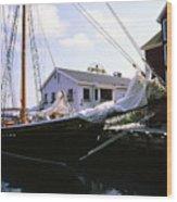 Bluenose II At Historic Properties Halifax Nova Scotia Wood Print