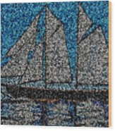 Bluenose II Wood Print