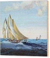 Bluenose Wood Print