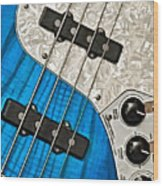 Blues Bass Wood Print