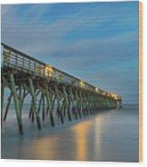Blues Beach Wood Print