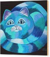 Blues Cat Wood Print