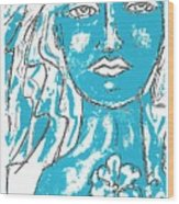 Blues Girl Wood Print