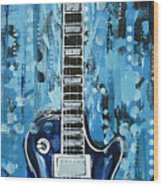 Blues Guitar Wood Print