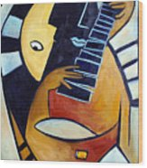 Blues Guitar Wood Print