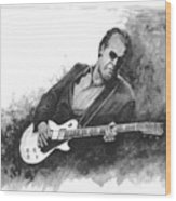 Blues Man Joe B. Wood Print