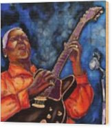 Blues Vibe Wood Print
