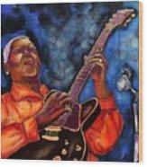 Blues Vibe Wood Print