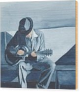 Bluesman Wood Print
