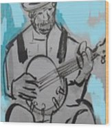 Bluesman Wood Print