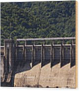 Bluestone West Virginia Dam Panorama Wood Print