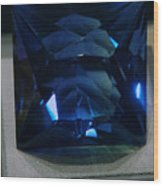 Bluetiful Fluorite Wood Print