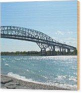Bluewater Bridges Wood Print